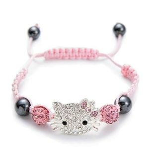 Crystal Encrusted Hello Kitty Shamballa Bead